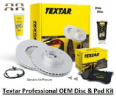 KIT286T Textar Premium Front Disc & Pad Upgrade to V8 Size Kit